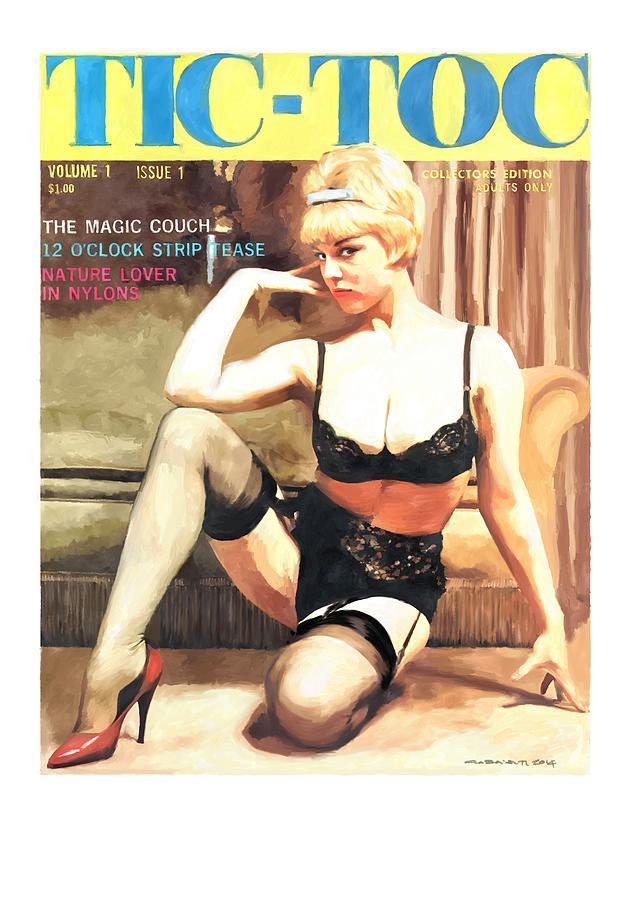 Tic Toc Digital Art - Tic-Toc - Vintage Magazine Covers Series by Gabriel T Toro