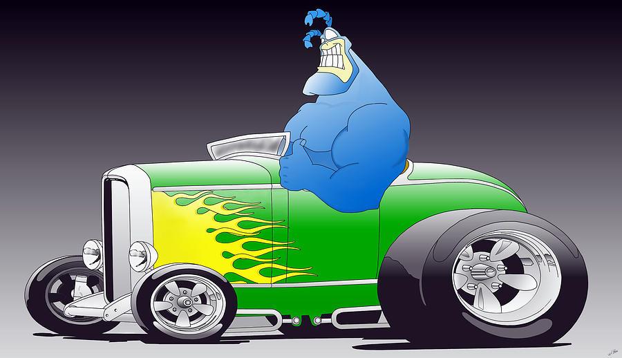 Cartoon Digital Art - Tick Toon by Lyle Brown