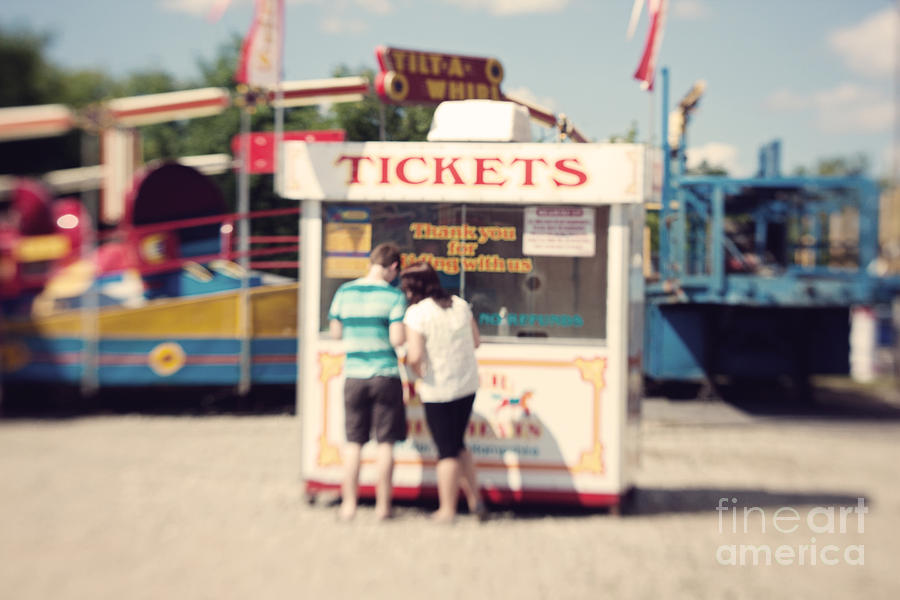 Carnival Photograph - Ticket Booth by K Hines
