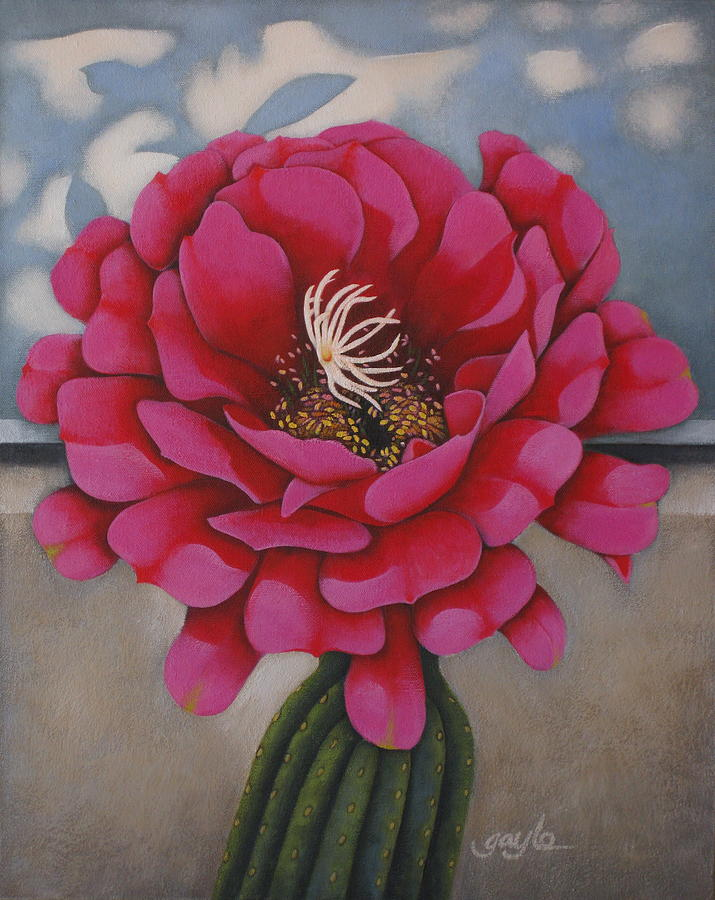 Floral Painting - Tickled Pink by Gayle Faucette Wisbon