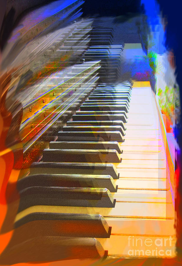 Piano Photograph - Tickling The Keys by Addie Hocynec