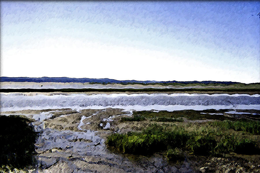 Low Tide Digital Art - Tidal Flats by Christopher Bage