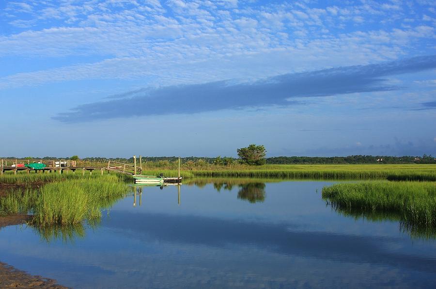 Tidal Marsh At Wrightsville Beach Photograph