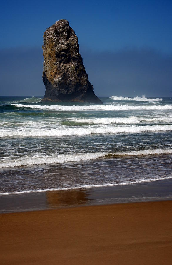 Oregon Coast Photograph - Tidal Monument by Mamie Gunning
