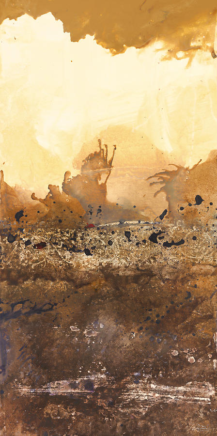Abstract Painting - Tidal Sunrise Panel 3 by Craig Tinder