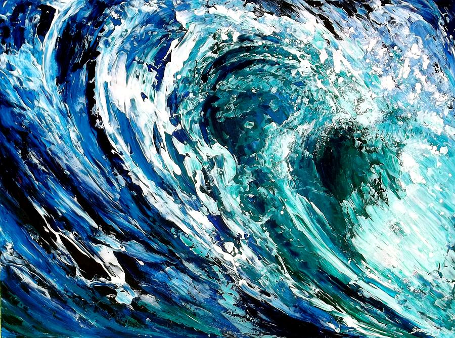 Water Painting - Tidal Wave by Suzanne King