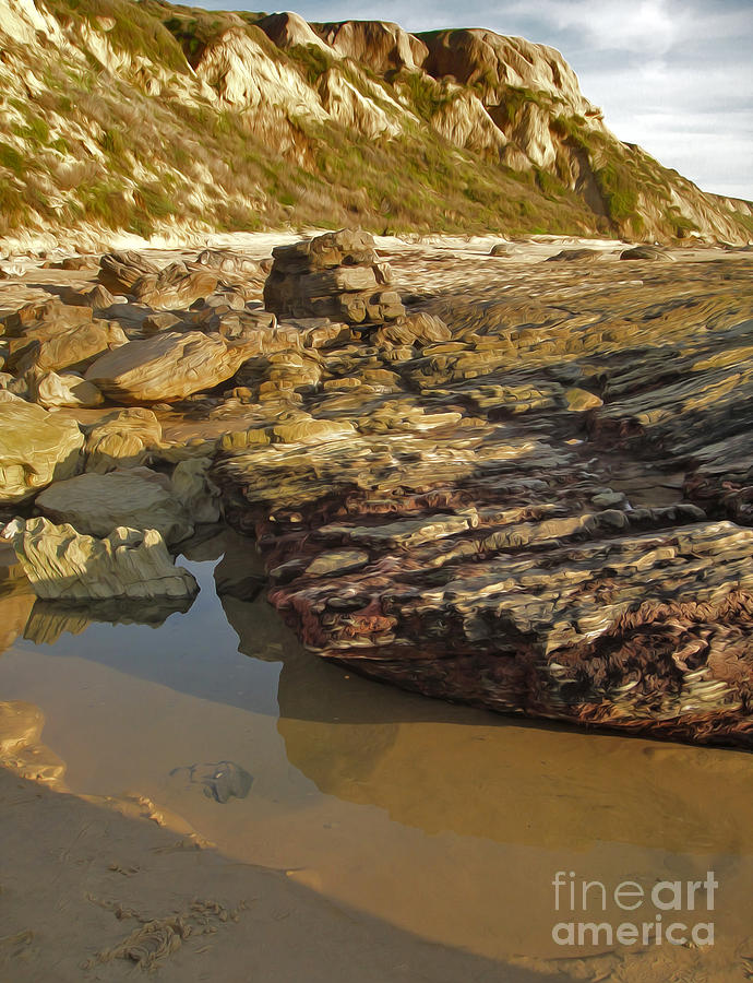 Crystal Cove Painting - Tide Pools - 01 by Gregory Dyer