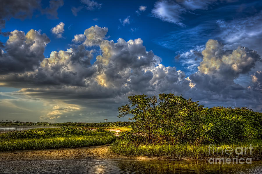Clouds Photograph - Tide Water by Marvin Spates