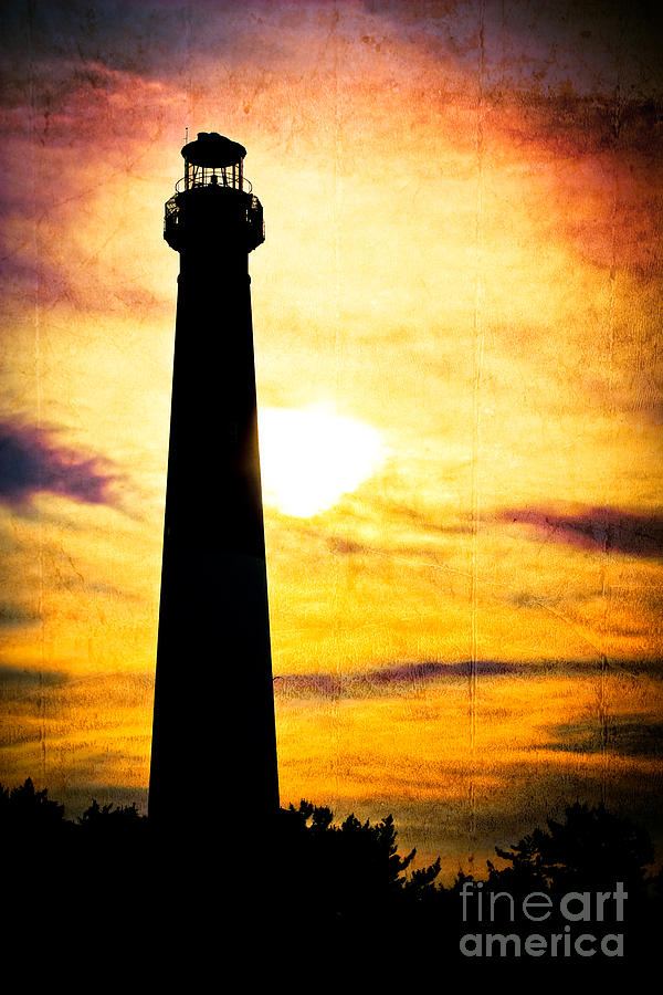 Lighthouse Photograph - Tie Dye Sky - Lighthouse by Colleen Kammerer