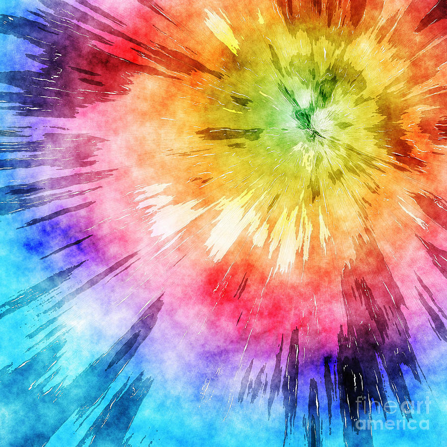Tie Dye Watercolor Digital Art by Phil Perkins