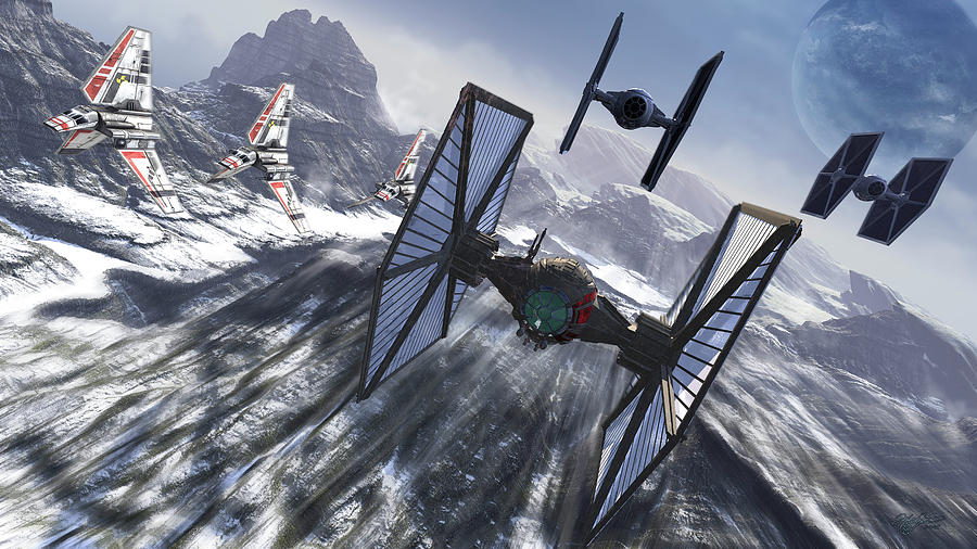 Tie Fighters On Patrol Over An Artic Photograph