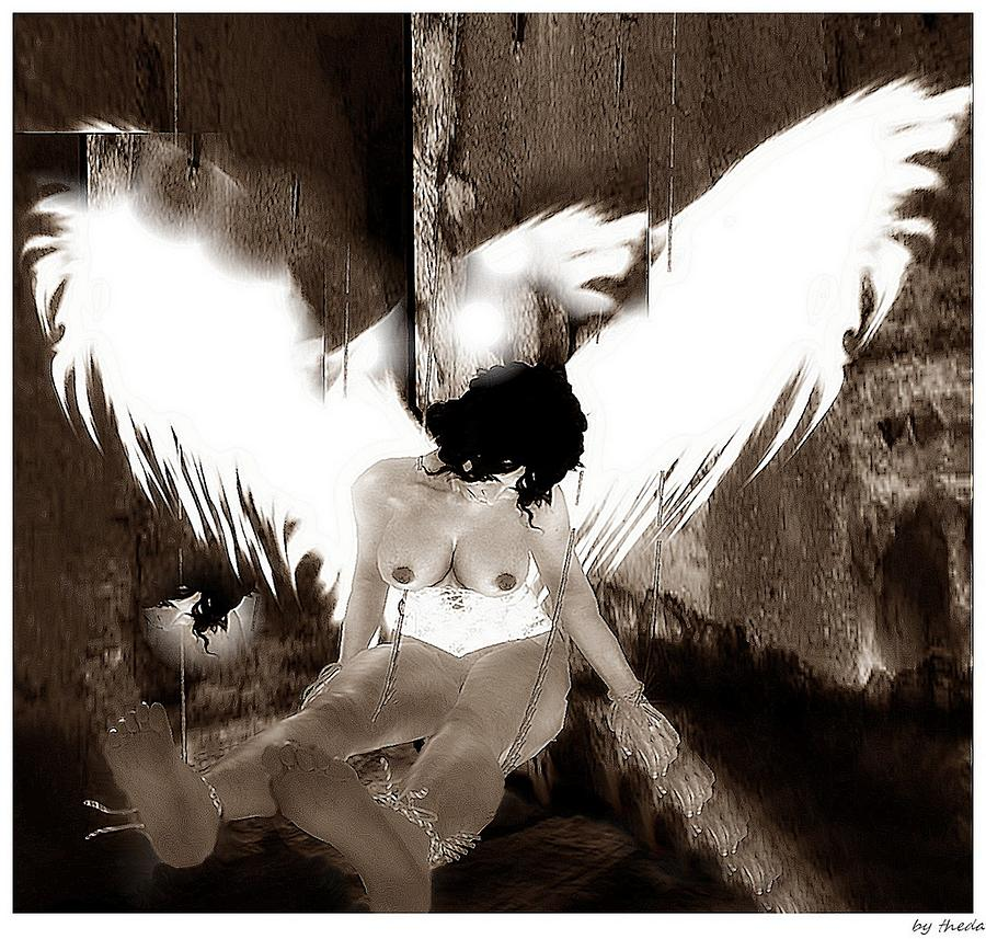 Angel Digital Art - Tied Angel by Theda Tammas