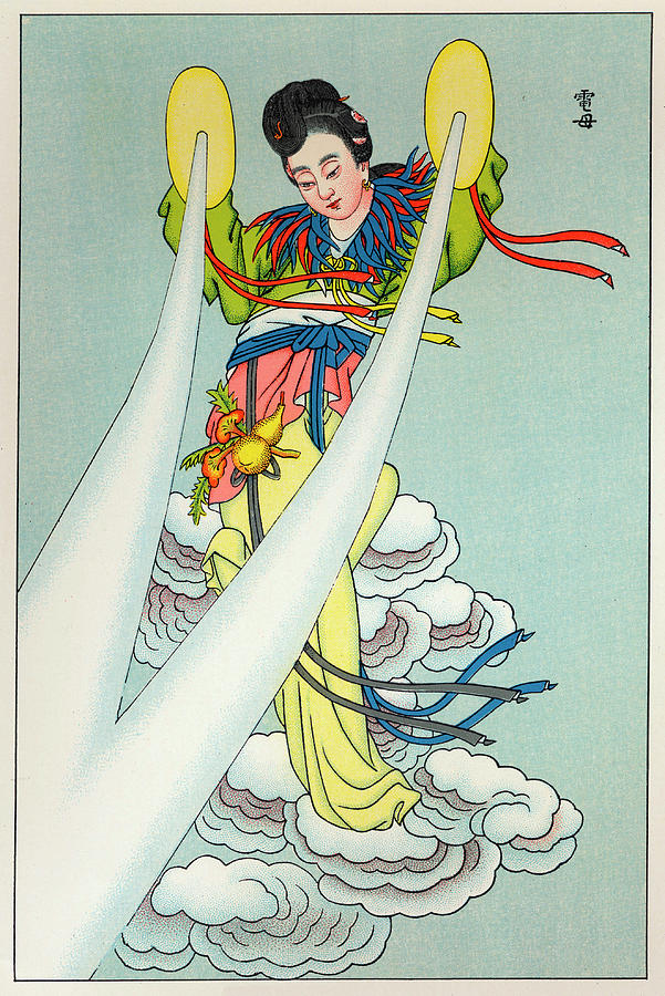 Tien Drawing - Tien-mou The Mother Of Lightning by Mary Evans Picture Library