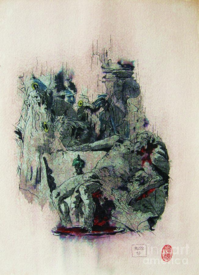Figurative Painting - Tiepolos  Death Of Seneca by Roberto Prusso