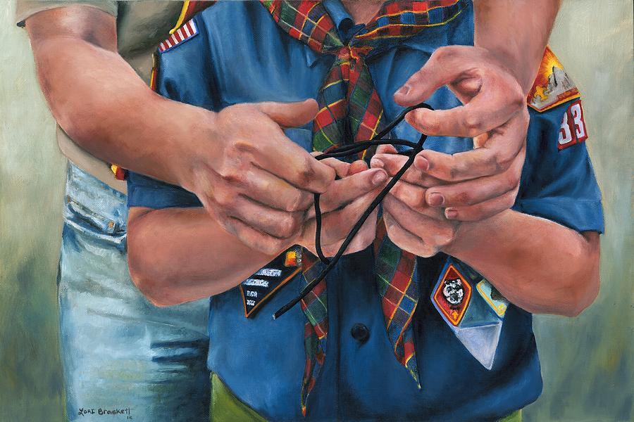 Scout Painting - Ties That Bind by Lori Brackett