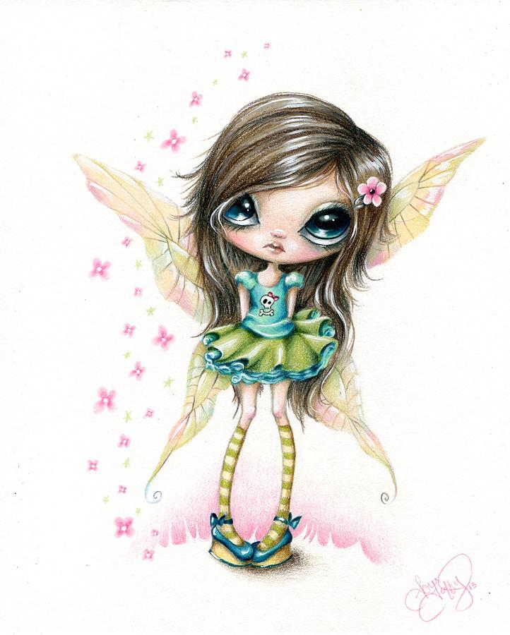Whimsical Drawing - Tiffanie by Sour Taffy
