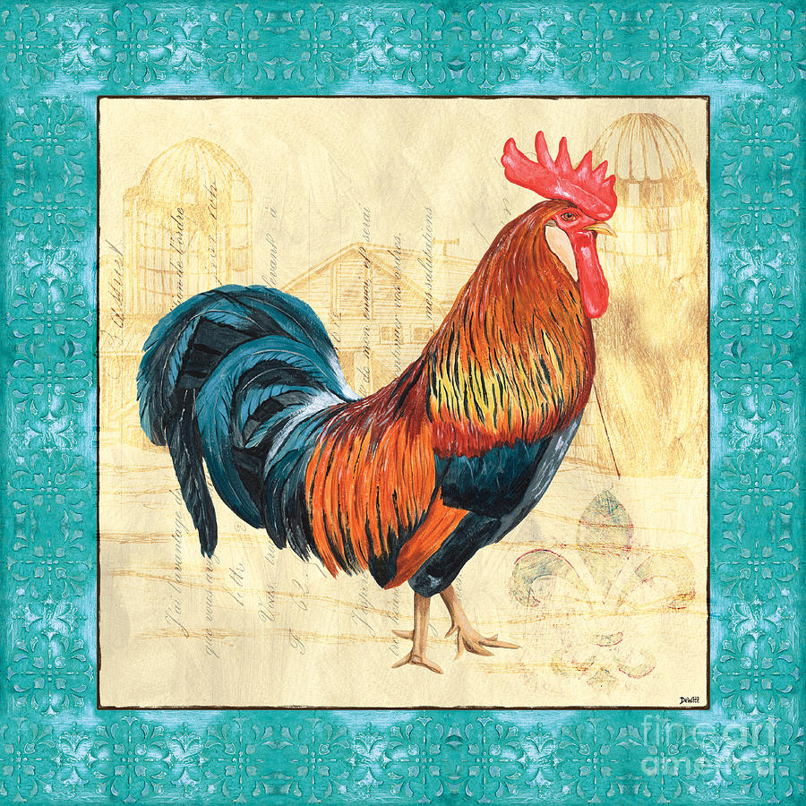 Roosters Painting - Tiffany Rooster 1 by Debbie DeWitt