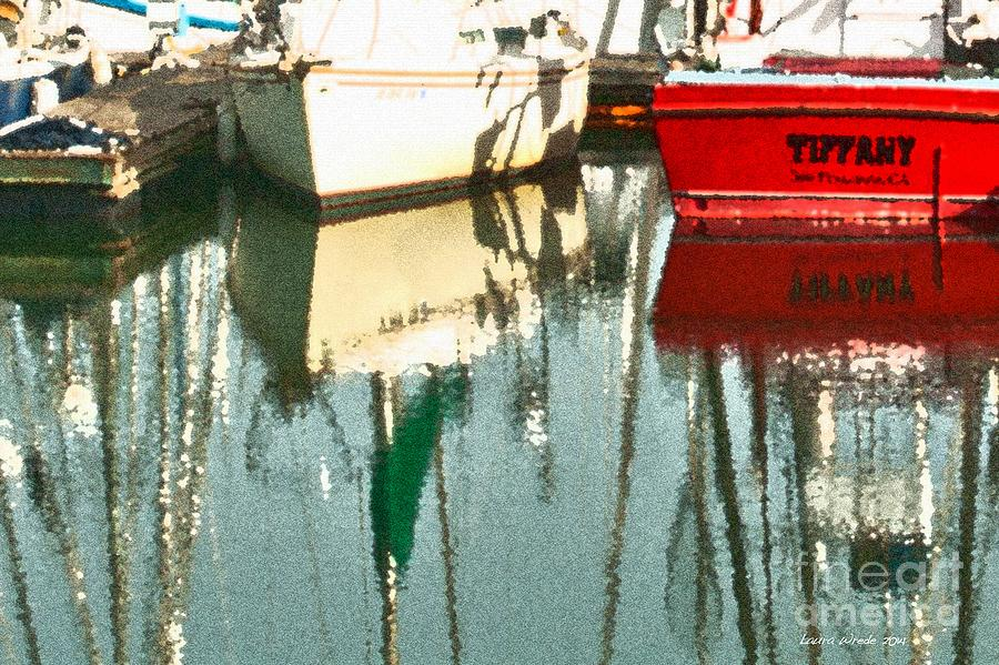 Boats Photograph - Tiffany Sailed From San Francisco To Moss Landing by Artist and Photographer Laura Wrede