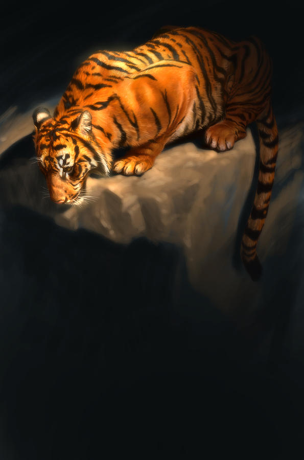 Tiger 5 Digital Art by Aaron Blaise