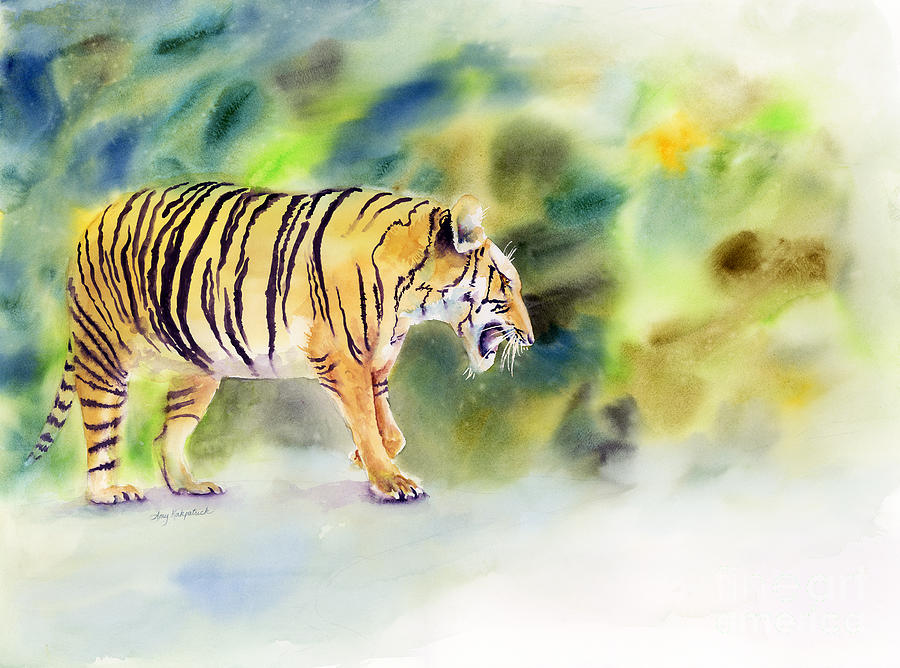 Tiger Painting - Tiger by Amy Kirkpatrick