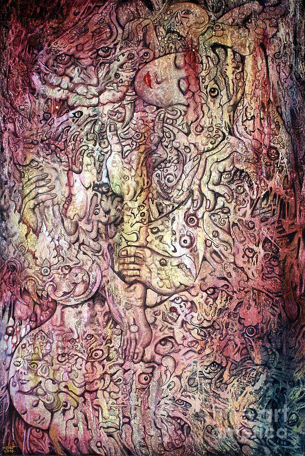 Stiger Painting - Tiger And Woman by Kritsana Tasingh