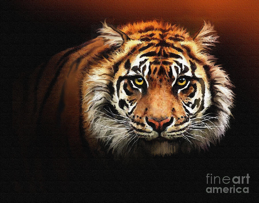 Tiger Painting - Tiger Bright by Robert Foster