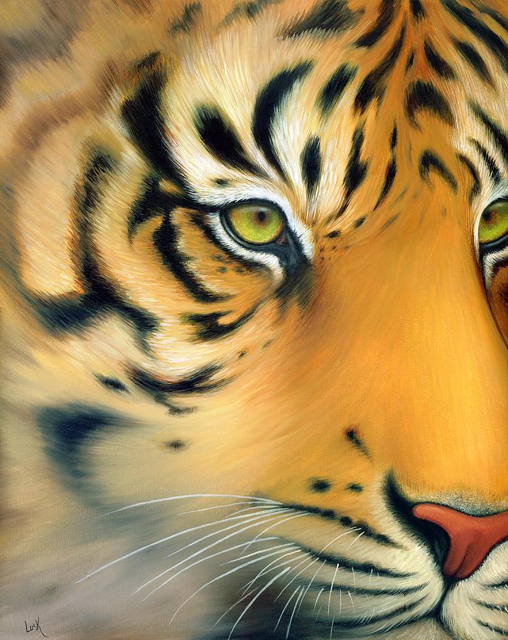 Tiger Painting - Tiger Eyes by B K Lusk