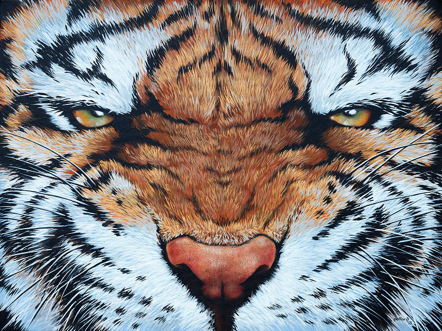 Cat Painting - Tiger Eyes by Glenn Pollard