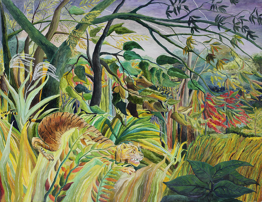 Famous Painting Tiger Jungle