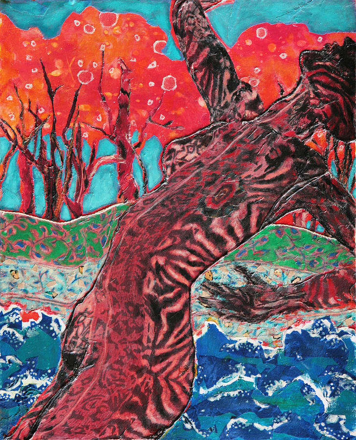 Acrylic Painting Mixed Media - Tiger Lady by Diane Fine