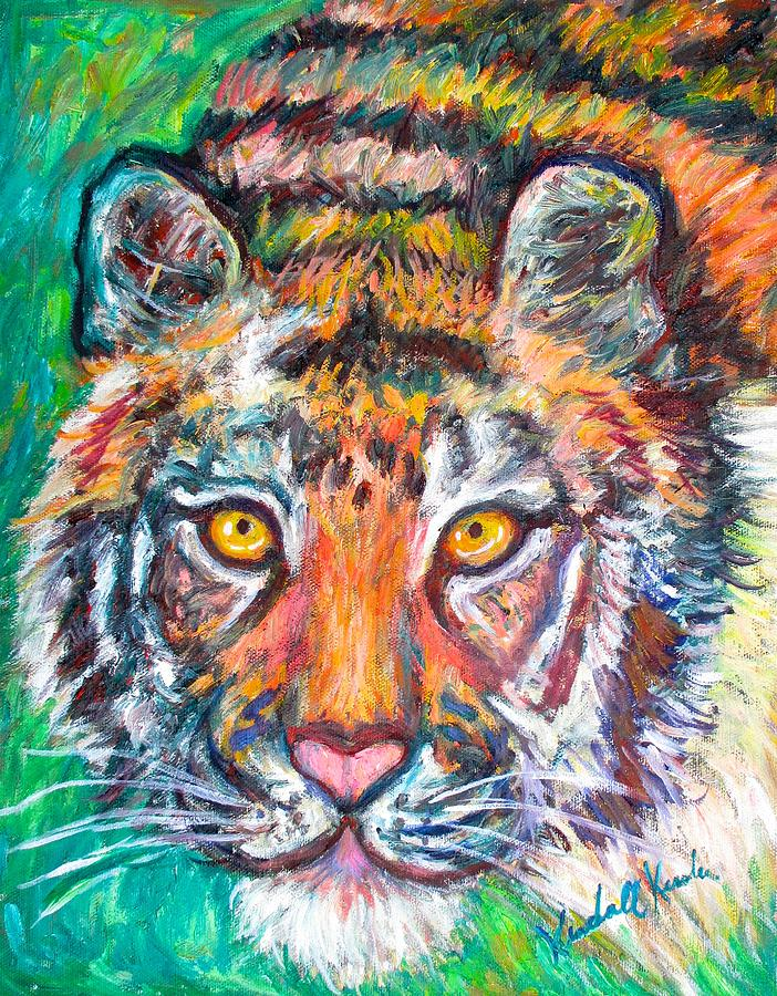 Tiger Painting - Tiger Lean by Kendall Kessler
