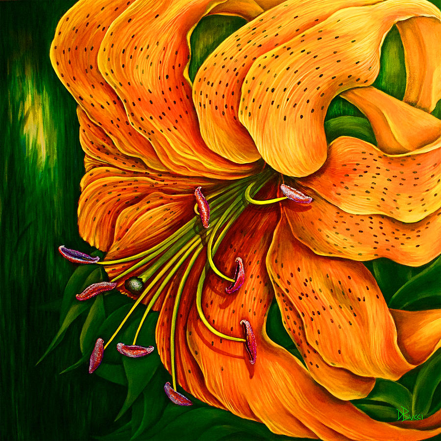 Tiger Lily Painting by Debra Bucci