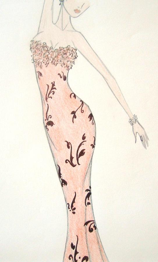 Tiger Lily Drawing - Tiger Lily Dress by Christine Corretti