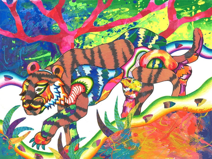Taonga - Tiger by Michael Andrew Frain