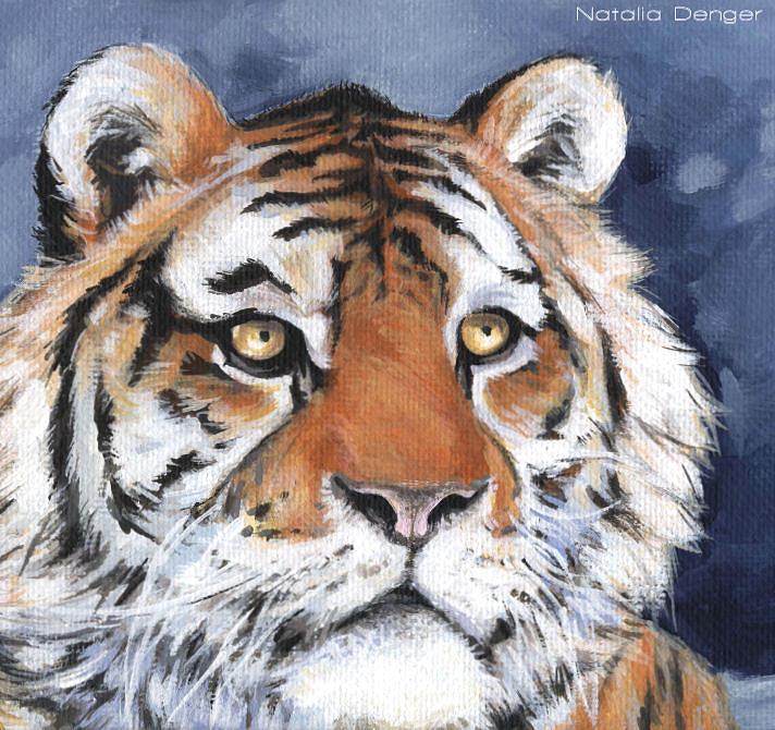 Tiger Painting - Tiger by Natasha Denger