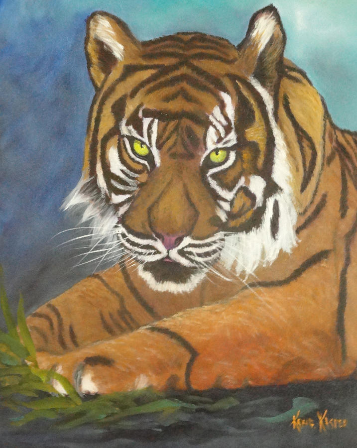 Tiger Painting - Tiger One by  Kathie Kasper