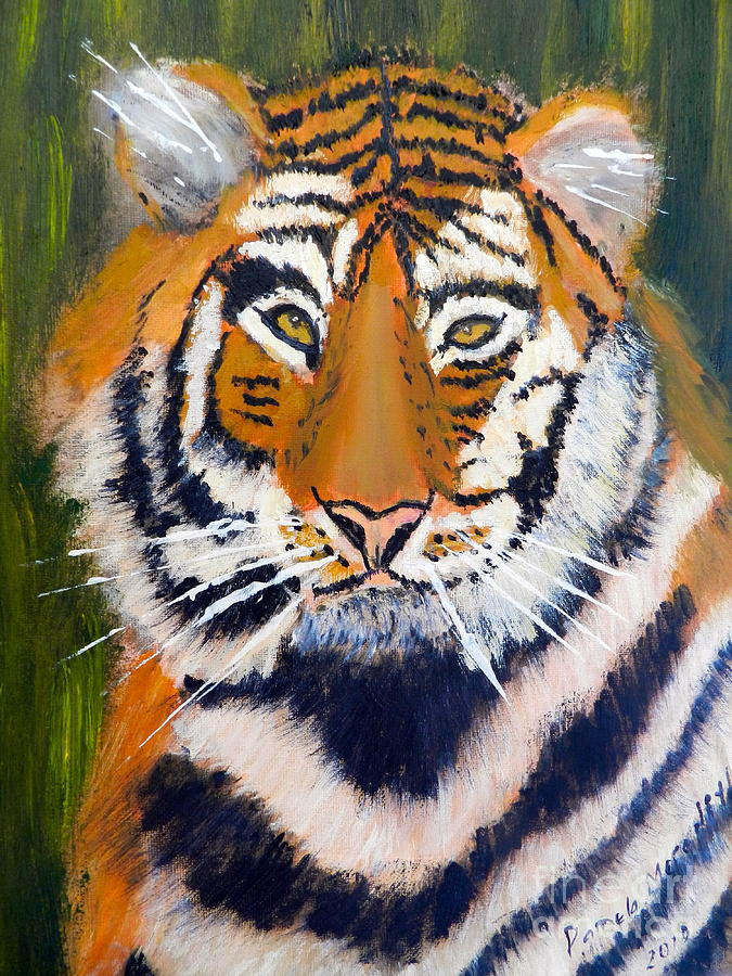 Impressionism Painting - Tiger by Pamela  Meredith