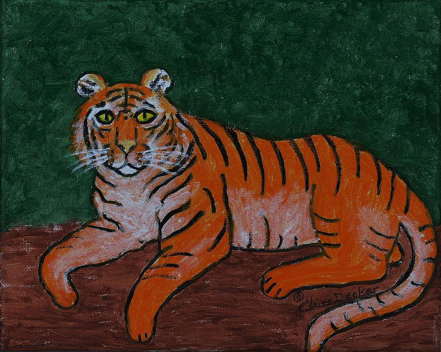 Tiger Resting by Claire Decker