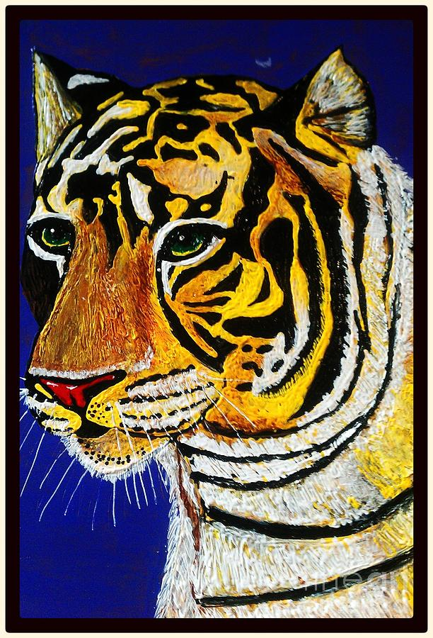 Tiger Painting - Tiger by Saundra Myles