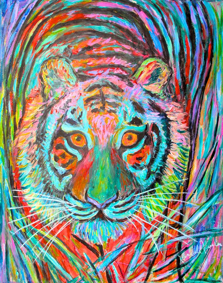 Tiger Painting - Tiger Stare by Kendall Kessler