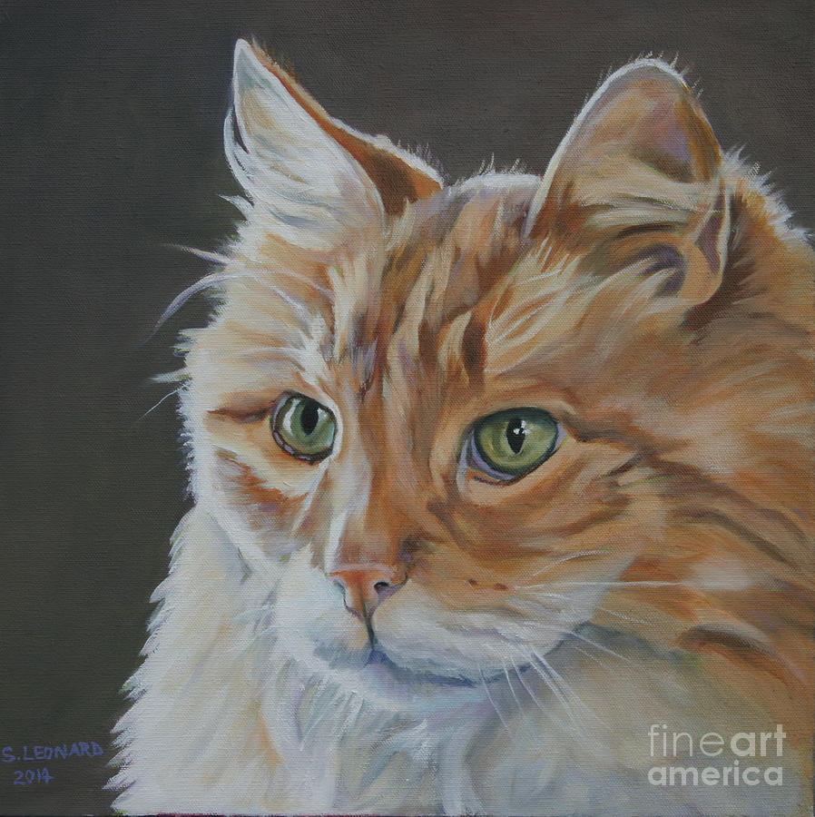 Cat Painting - Tiger by Suzanne Leonard