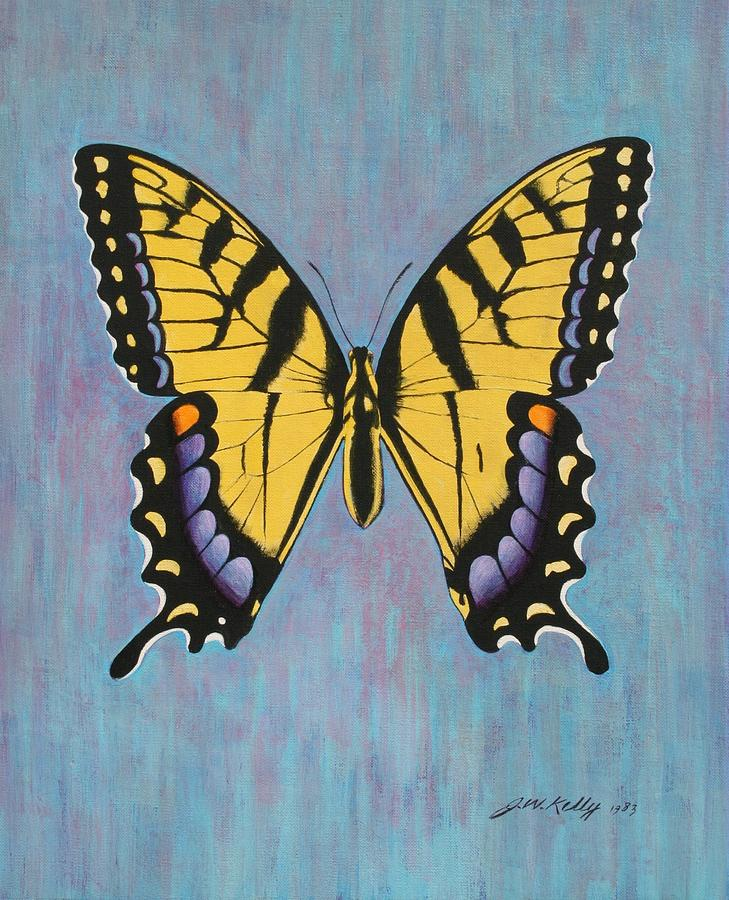 Butterfly Painting - Tiger Swallowtail by J W Kelly