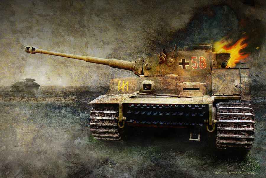 tiger tank faces T34 eastern front