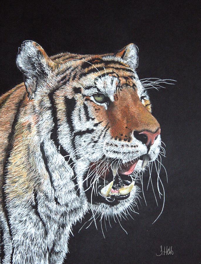 Tiger Painting - Tiger Tiger Burning Bright by John Hebb