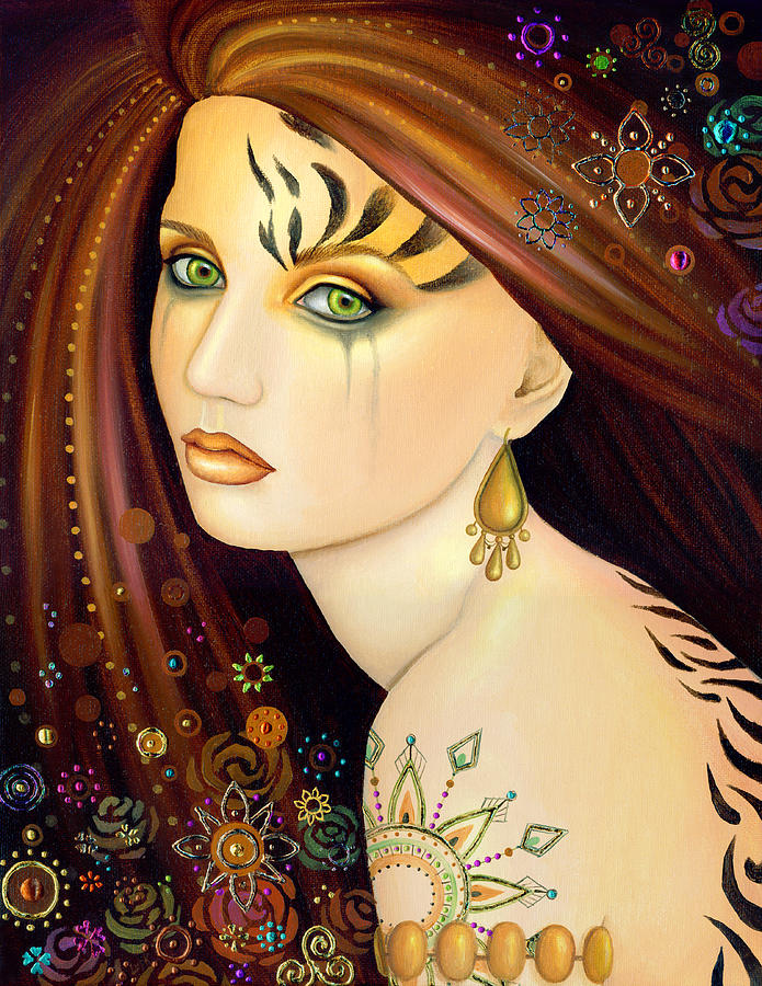 Tigerlily Painting - Tigerlily by B K Lusk