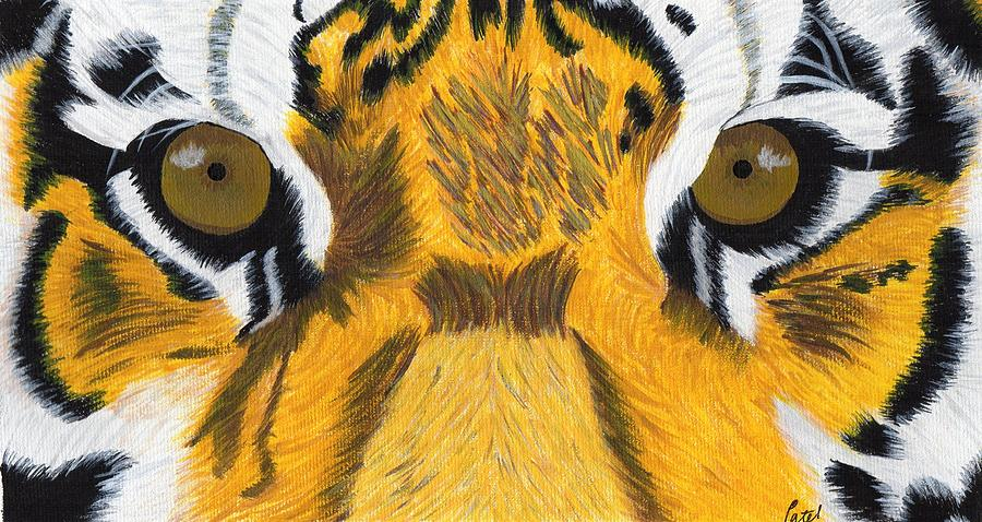 Tiger Painting - Tigers Eyes by Bav Patel