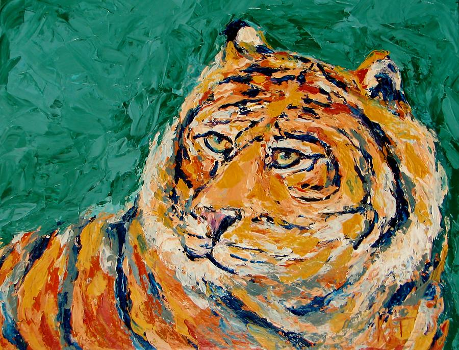 Tigers Focus Painting by Kat Griffin