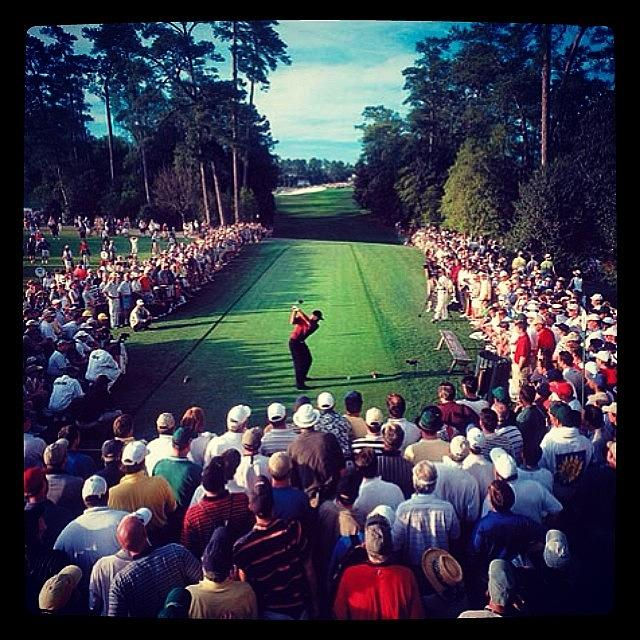 Masters Photograph - Tiger Woods by Oscar Lopez