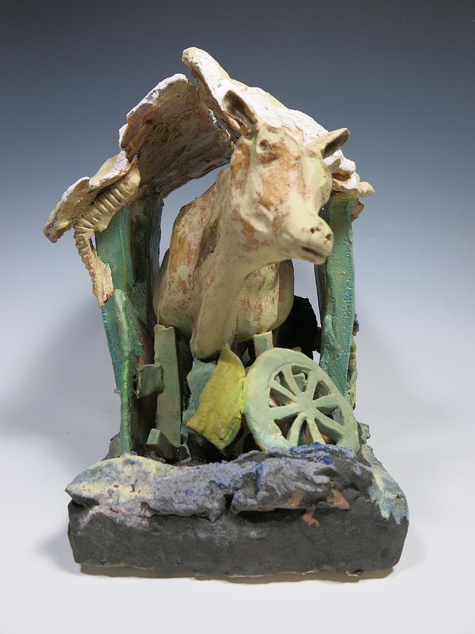 Cow Sculpture - Tight Squeeze by Jean Macaluso
