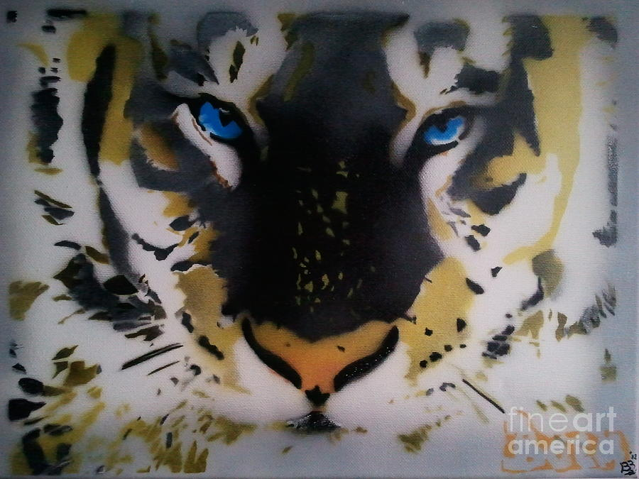 Tiger Painting - Tigrrr 2 by Barry Boom